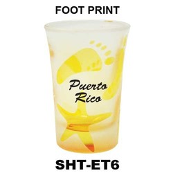 FOOT PRINT etched tapered shot glasses