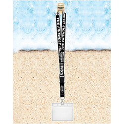 Rockin Gear Souvenir Lanyards With Badge Holder SXM Black