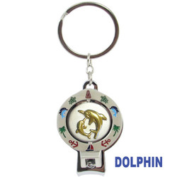 DOLPHIN SPINNER NAIL CLIPPER KEYCHAINS