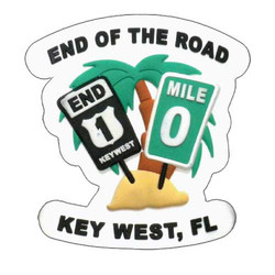 END OF THE ROAD PVC MAGNET KEY WEST