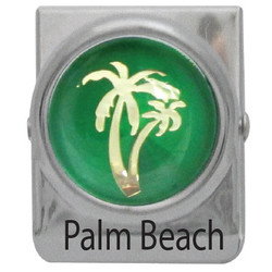 METAL CLIP MAGNET PALM TREE