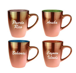 Mug-RG1 Rose Gold Metallic Finish Ceramic Mugs