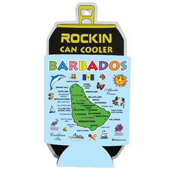 BARBADOS MAP Can Cooler