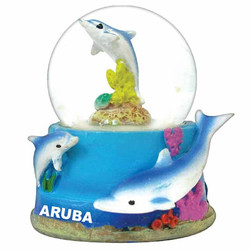 DOLPHIN WATER GLOBE MAGNETS
