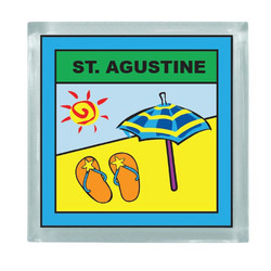 BEACH SQUARE MAGNET