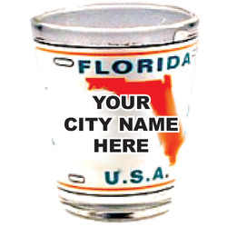 Florida Customized License Plate Shot Glass