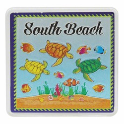 South Beach TURTLES Acrylic Foil Magnets