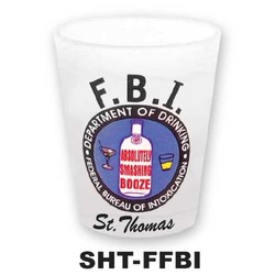 FBI FROSTED SHOT GLASS