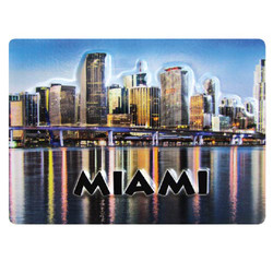 MIAMI EMBOSSED RUBBER MAGNET