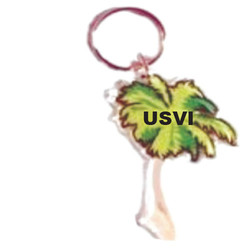 PALM TREE Sand Filled Keychain