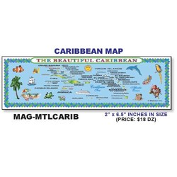 CARIBBEAN MAP METAL MAGNET