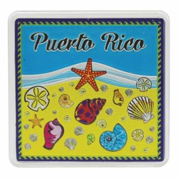 Puerto Rico SEA SHELLS Acrylic Foil Magnets