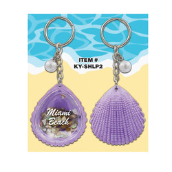 Clam Shell Keychains Nacar Filled