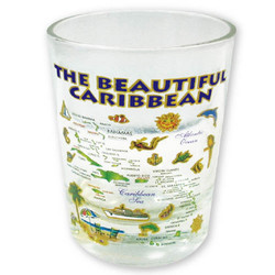 CARIBBEAN GOLD MAP SHT GLASS