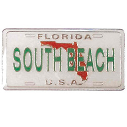 South Beach License Plate Enamel Magnet