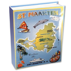 St. Maarten Map Small Photo Album