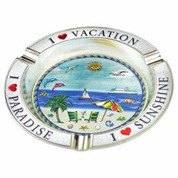 Beach Theme Metal Foil Ashtray
