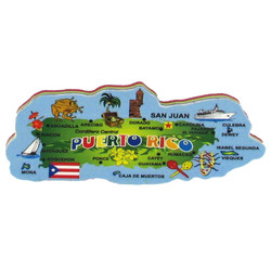 Puerto Rico Map RUBBER MAGNET