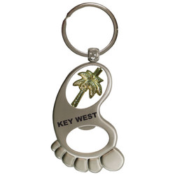 PALM TREE BOTTLE OPENER SPINNER KEYCHAIN