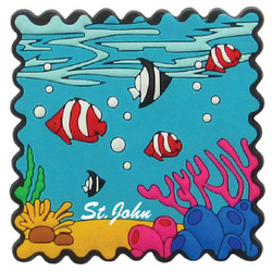 FISH PVC STAMP MAGNETS
