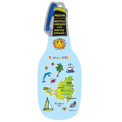 St. Maarten Map BOTTLE COOLER