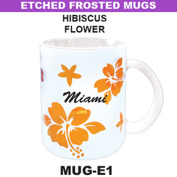 HIBISCUS Etched Frosted Mug
