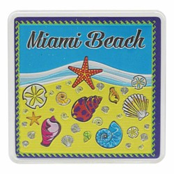 Miami Beach SEA SHELLS Acrylic Foil Magnets