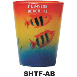 AIRBRUSHED FISH SHOT GLASSES