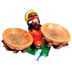 Wood Bowls Rasta Ceramic Ashtray