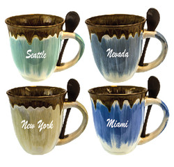 Mug-Spn136 Glazed Ceramic Spoon Mugs