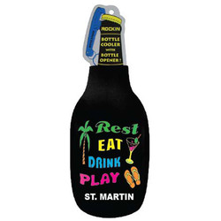 REST, EAT, DRINK & PLAY BLACK BOTTLE COOLER