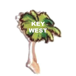 PALM TREE SAND FILLED MAGNET