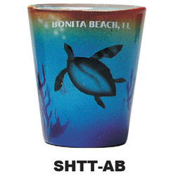 AIR BRUSHED DOLPHIN SHOT GLASSES