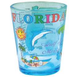 Florida Map Series Shot Glass