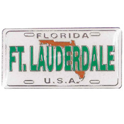 FLORIDA, FT. LAUDERDALE ENAMEL MAGNET LICENSE PLATE