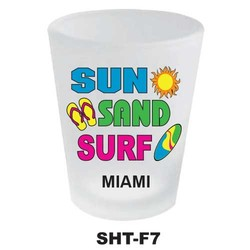 SUN, SAND, SURF, NEON SHOT GLASS