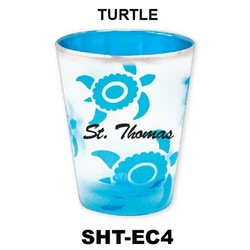 TURTLE etched color shot glasses