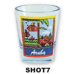 FISH/SAILBOAT SHOT GLASS
