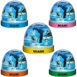 DOLPHIN FLOATING WATER GLOBE MAGNETS