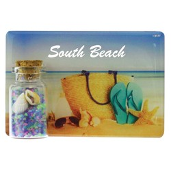 Color Sand and Shell Bottle Magnet
