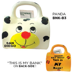 Ceramic Panda Bag Bank