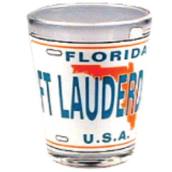 Florida Ft. Lauderdale License Plate Shot Glass