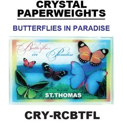 Butterflies In Paradise Paperweight