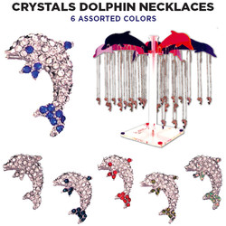 Crystal Dolphin Necklaces