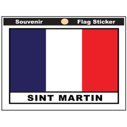 St. Maarten Flag Souvenir Sticker