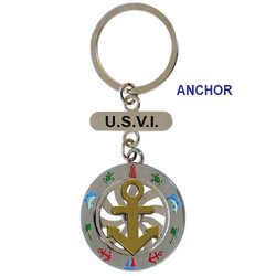 ANCHOR SPINNING KEY CHAIN