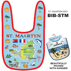 St. Maarten Map Cotton BABY BIB