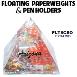 Pyramid Paperweight & Pen Holder