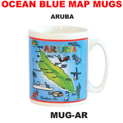 Aruba Ocean Blue Map Mug