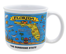 Gift Boxed Souvenir Mugs Florida Map
